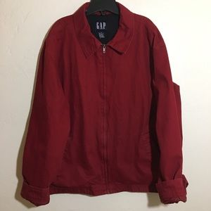 Mens Red Gap Cotton XL Zip Up Coat